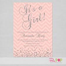 pink and silver baby shower baby shower invitation inserts glitter coral silver baby shower