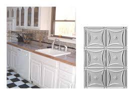 interior gorgeous kitchen interior using metal backsplash design