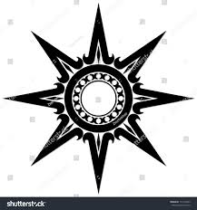 black sun ornament stock illustration 114118543