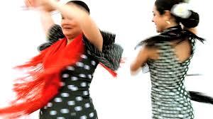 lower body of dramatic spanish flamenco dancer in seville spain