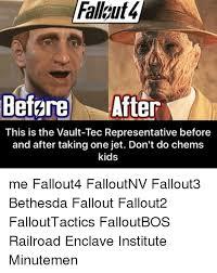 Memes Tec - fallkut4 before after this is the vault tec representative before