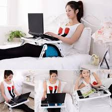 Laptop Desks For Bed by Multi Functional Foldable Adjustable Ergonomic Mobile Laptop Table