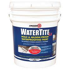 zinsser watertite 5 gal lx low voc mold and mildew proof white