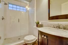 Bathrooms With Beadboard Traditional 3 4 Bathroom With Crown Molding U0026 Flush In Coronado