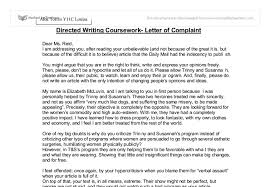 directed writing coursework letter of complaint gcse english