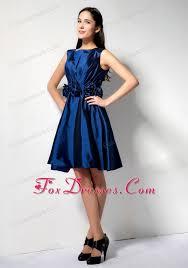 beautiful graduation dresses royal blue scoop knee length graduation cocktail dress
