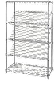 White Wire Shelving Unit by Slanted Chrome Wire Shelving Units Chrome Wire Shelving Units