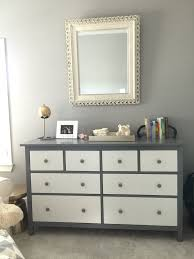 ikea hack project with the all white hemnes dresser painted parts