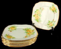 vintage royal albert bone china set of 8 salad plates tea rose ebay