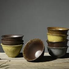 Handmade Tea Cups - zen japanese style vintage glaze coarse pottery teacup handmade