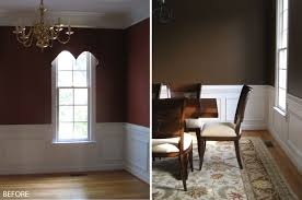 best color for a room with charming wainscoting brown and white