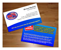 Business Cards 2 Sided Motor Club Of America 2 Sided Id Business Cards