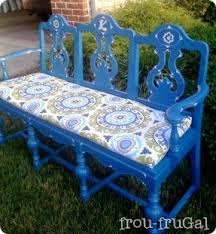 Patio Bench Cushion by Blue Outdoor Bench Foter