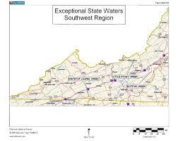 Virginia State Map With Cities by Virginia Deq Exceptional State Waters Tier Iii