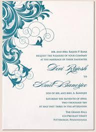 wedding card invitation designs rectangle beige blue floral
