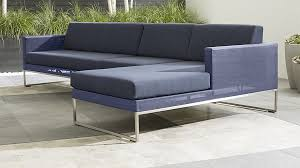3 Piece Sectional Sofa With Chaise by Dune 3 Piece Right Arm Chaise Sectional Sofa With Sunbrella