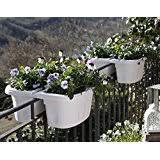 amazon com viva self watering saddle railing planter arts