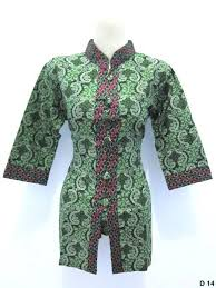 gambar model baju batik modern model baju batik dinas perempuan grosir batik pekalongan