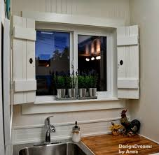 Kitchen Window Shutters Interior Designdreams By Rustic Diy Shutters For 10