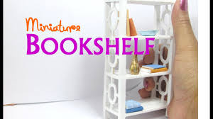 Doll House Furniture Diy Easy Bookshelf Dollhouse Furniture Miniature Youtube