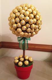 Lollipop Topiary Ferrero Rocher Chocolate Edible Topiary Centerpiece Candy