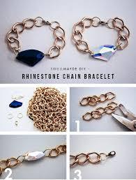 diy bracelet with chain images Diy tutorial bracelets diy rhinestone chain bracelet bead cord jpg