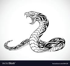 snake tribal royalty free vector image vectorstock