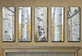 aspen wood wall large personalized aspen wall set of 5
