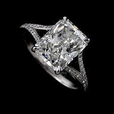 set diamond micro pave set diamond split shank modern platinum 950 engagement