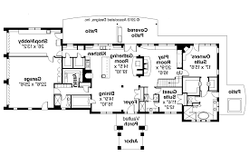 Floor Plans With Inlaw Apartment Mediterranean House Plans With Detached Guest