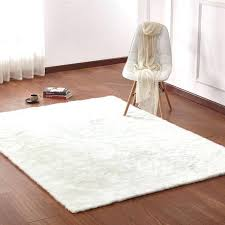 White Fur Area Rug Soft Shaggy Carpet For Living Room Warm Plush Floor Rugs Faux Fur
