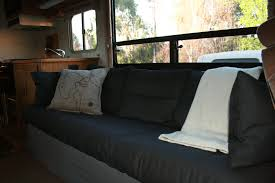 Sofa Bed Slipcover by Rv Renovation Jackknife Couch Before After Dirt Roads Big Skies