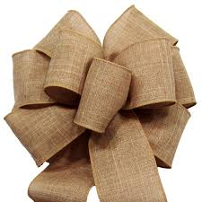 burlap ribbon bow bows wired linen burlap bows 8 inch