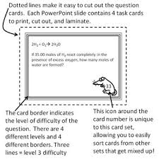 chemistry task cards stoichiometry and mole problems by science