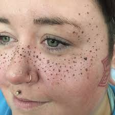 tattoo makeup freckles these face tattoos aren t completely permanent they re created