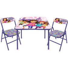 3 piece table and chair set nickelodeon dora and friends 3 piece table and chair set walmart com