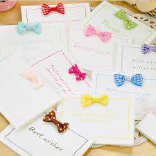 10pcs lot cute bow folding greeting card kawaii wedding cards