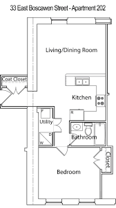 One Bedroom Apartment Layout Single Bedroom Apartment