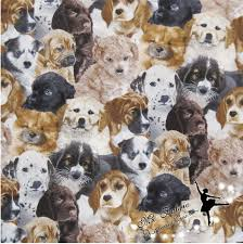 110 50cm 1pc dog fabric 100 cotton fabric patchwork puppy dog