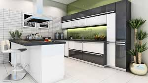 Kitchen Modular Design Modular Kitchen Idea With Nice Clours Combination Scheme From