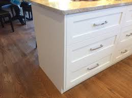 kitchen island drawers kitchen island overlay drawer stacks should end panels