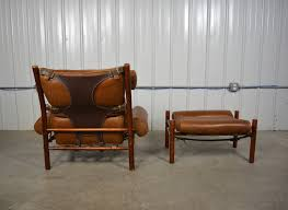 Leather Lounge Chair Inka Leather Lounge Chair And Ottoman By Arne Norell At 1stdibs