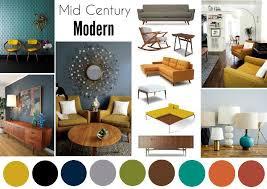 home design board best color scheme mid century modern interior mood board
