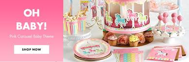 baby shower themes girl baby shower themes baby shower tableware party city