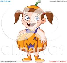 happy halloween clipart cartoon of a happy halloween in a pumpkin costume royalty