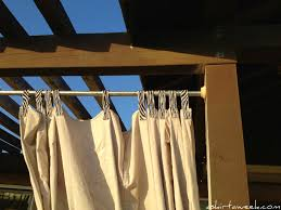 Outdoor Canvas Curtains How To Make Outdoor Curtains For Patio Outdoor Designs