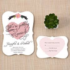 wedding invitations and rsvp pink and gray bracket shaped wedding invites ewib329 as