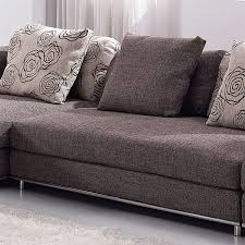 Modern Fabric Sectional Sofas Contemporary Modern Brown Fabric Sectional Sofa Tos Anm9708 2