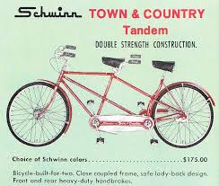 1960s schwinn ad for tandem bike givelovecycle our blog