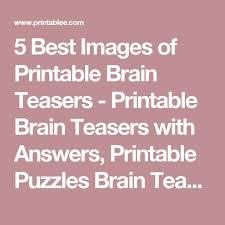 best 25 printable brain teasers ideas on pinterest brain
